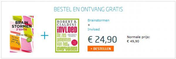 Tijdelijke actie: boek Brainstormen met gratis boek Invloed van Cialdini